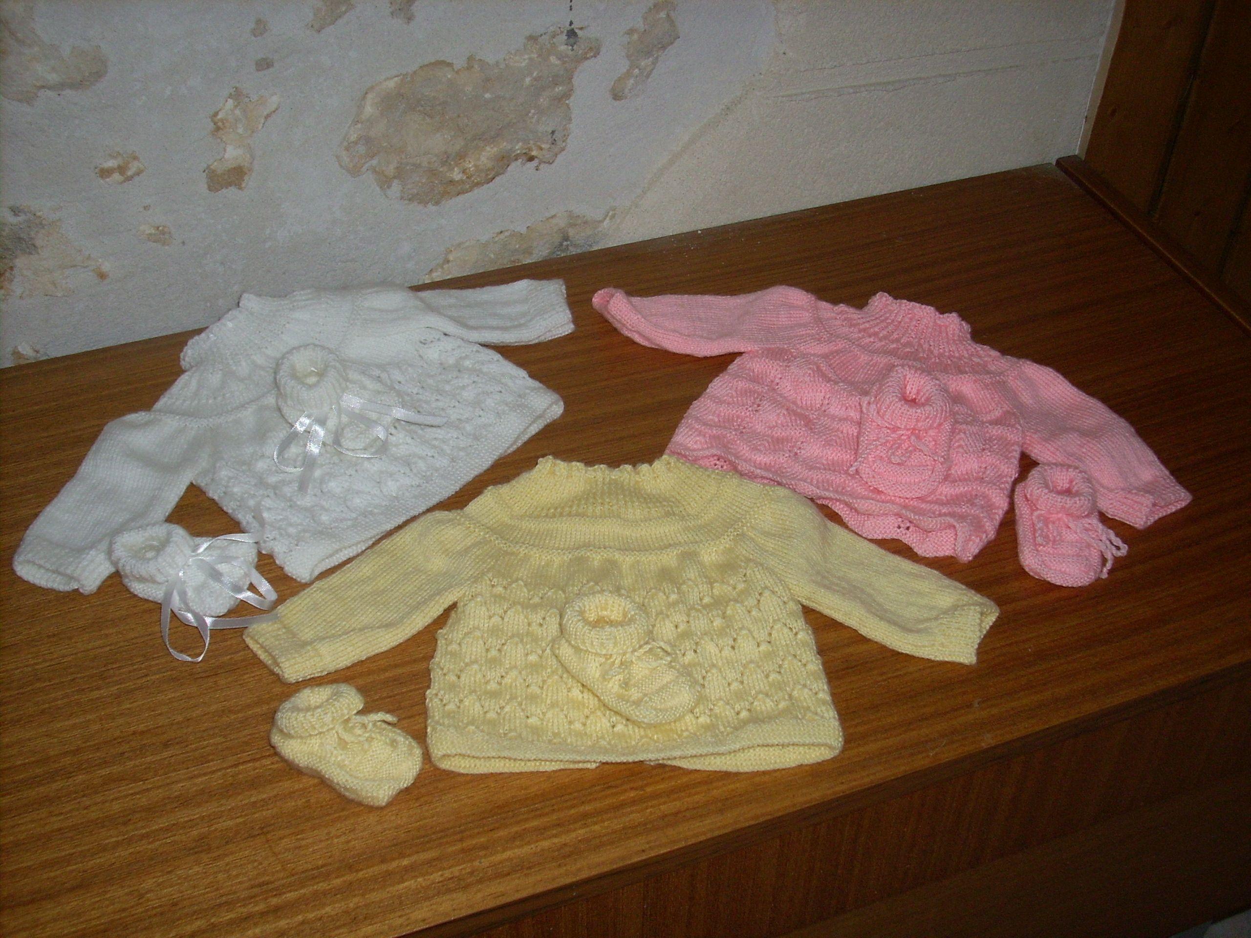 patron tricot layette bébé